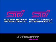 Subaru impreza STI fog lamp stickers/ decals x2 Premium Quality Magenta/ white
