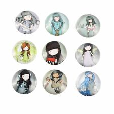 20mm Glass Cute Girl Cabochons Embellishment Cameo Flatback Scrapbooking 10pcs