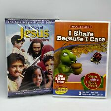 Christian Kids DVD Set Story of Jesus & I Share Because I Care