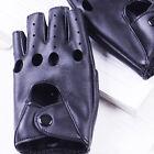 Fashion Half Finger Driving Women Gloves PU Leather Fingerless Gloves Hot