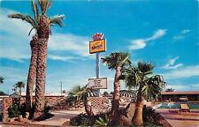 Laredo Texas~Siesta Best Western Motor Hotel~Fat Trunk Palm Trees~1966