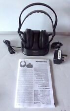 Panasonic RP-WF820T RF Stereo Wireless Rechargeable Headphones & Instructions