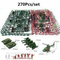270pcs/Set Military Model Playset Toy 4cm Soldier Army Action Figures Men T7K5