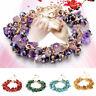 Charm Women Natural Crystal Stone Gravel Bracelet Wristband Bangle Lucky Jewelry