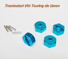 """Trascinatori in Lega """"BLU"""" per 1/10 universali (da 4 pezzi) scoppio Elettrico"""