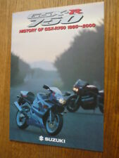 SUZUKI GSX - R 750, 1985 -2000 HISTORY MOTORBIKE BROCHURE  - POST FREE