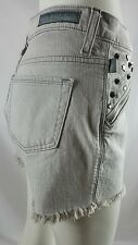 ROCK & REPUBLIC SHORTS GRAY STUDDESD SIZE 4 MSRP $58 STUDS AND SPIKES