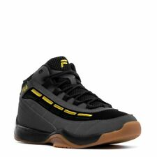 FILA SPITFIRE LOW LEATHER TRAINER SPORTS MEN SHOES GREY/BLACK/GOLD SIZE 10.5 NEW