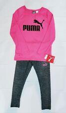 GIRL'S PUMA 2 PIECE SPORTSWEAR OUTFIT~Shirt & Leggings Size 5~NWT