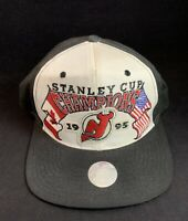 Vintage 1995 New Jersey Devils Stanley Cup Champions Starter Snapback Cap Hat