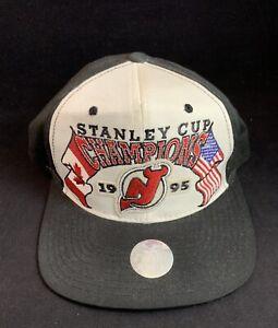 Vintage 1995 New Jersey Devils Stanley Cup Champions Starter Snapback Cap Hat