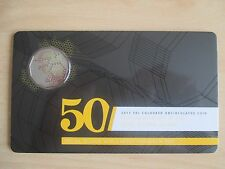 2015 50c, 50th Anniversary of the Royal Australian MINT, coloured uncirc. Coin!