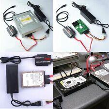 "USB 3.0 to 2.5"" 3.5"" 5.25"" IDE SATA Hard Drive HDD Reader Converter Dock Set A++"