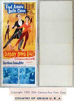 Original Filmplakat DADDY LONGLEGS - Fred Astaire Leslie Caron - USA 1955