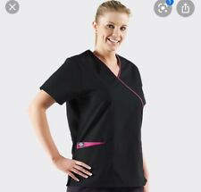 Dickies Tunic Wrap Black Pink Women's Size Medium Bnwt