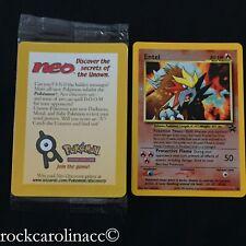 Entei REVERSE HOLO #34 (SEALED) Black Star PROMO Pokemon Cards