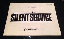 A SAISIR NOTICE EN FRANCAIS POUR CONSOLE NINTENDO NES : SILENCE SERVICE
