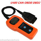 Car Diagnostic Scanner Tool U480 Can Obdii Obd2 Auto Engine Fault Code Reader