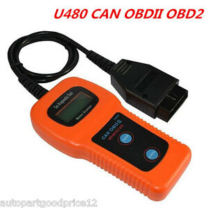 Car Diagnostic Scanner Tool U480 CAN OBDII OBD2 Auto Engine Fault Code Reader