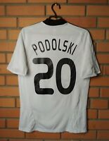 Podolski Germany Jersey 2008 2009 Home SMALL Shirt Adidas Football Soccer Maglia