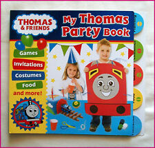 My THOMAS PARTY BOOK - PARTY PLANNING Games Invites Costumes Food - TRAIN - NEW