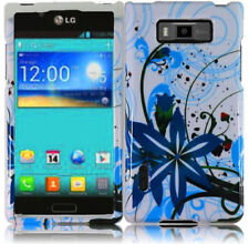 For LG Venice LG730 HARD Case Phone Snap on Cover Blue Splash