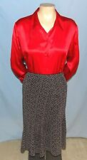 Awesome & Chic  East 5th Black Geometric Print  Skirt Size 14   Career or Social