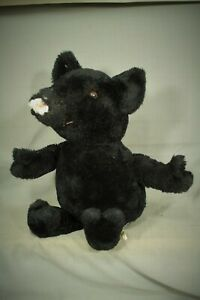 vintage old Stuffed Animal Black Bear cub Baby Mouse ? Eden Toys U.S.A.  17""