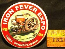 IRON FEVER EXPO PINBACK BUTTON YORK PENNSYLVANIA 2004 SECOND ANNUAL