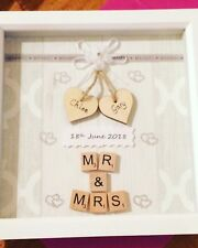 Personalised Wedding Day Scrabble Box Frame Picture