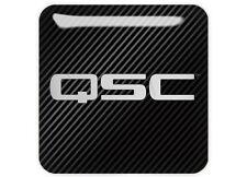 """QSC 1""""x1"""" Chrome Domed Case Badge / Sticker Logo"""