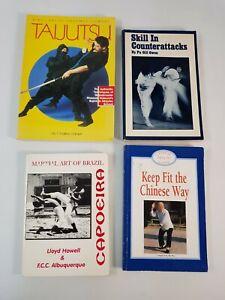 Martial Art Book Bundle Joblot Taijutsu Counterattacks Keep Fit Chinese Capoeira