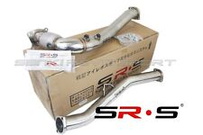 SR*S DOWNPIPE FOR 2017 WRX MANUAL CATTED DUAL O2 BUNG J DOWN PIPE HIGH FLOW CAT