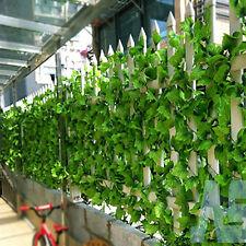 82FT Artificial Grape Lvy Vine Faux Leaf Plant Fake Foliage Green Leafage Sales