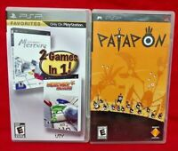 Mercury 1 2 & Patapon - Sony PSP Game Playstation Portable 1 Owner Lot Working!