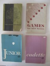 Girl Scout 1959 Handbook 1971 Junior 1978 Cadette And Games ( Lot of 4 )
