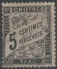 "FRANCE STAMP TIMBRE TAXE N° 14 "" TYPE DUVAL 5c NOIR "" OBLITERE TB"