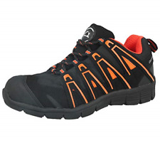 Groundwork Mens Steel Toe Cap Saftey Ultra Light Weight Lace Work Trainer Shoes