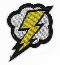 Lightning cloud embroidered iron or sew on patch