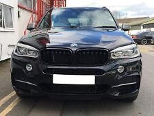 BMW F15 F85 X5 F16 F86 X6 Kidney Gril Calandre Grills Gloss Noir 2014 Onwards