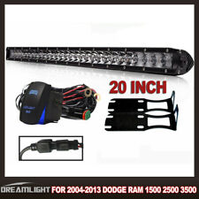 "Super Mini 20""100W Led Light Bar Combo Single Row Work Driving Lights For Dodge"