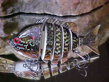 """Predator Tackle 3.5"""" Lipped Jointed 3/8oz in Spotted Sunfish for Bass/Pickerel"""