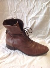 Clarks Brown Ankle Leather Boots Size 38