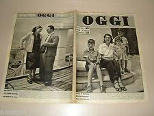OGGI 1949/24=MARIA DI SAVOIA=FERRUCCIO TAGLIAVINI=PIA TASSINARI=MONTELEPRE=
