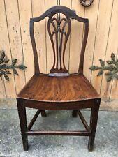 Georgian Hepplewhite Oak Country Shield Back Chair