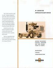 Oshkosh p-series prospectus usa 2002 bétonnière brochure Concrete Mixer camion poids lourds