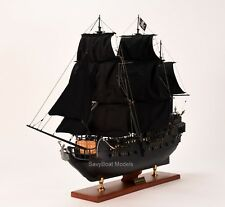 "Black Pearl Pirate Tall Ship Handcrafted Wooden Ship Model 32"" NEW"