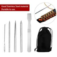 5 Pack Paracord Bracelet Stainless Steel Fid Lacing Stitching Needles Tool Set