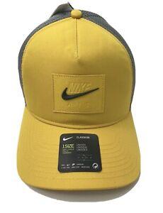 Nike Air Classic99 Dri Fit Snapback Hat Cap Yellow Grey One size Rare