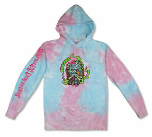 Rob Zombie Smoke Your Grass Tie Dye Pull Over Hoodie Sweatshirt NEW